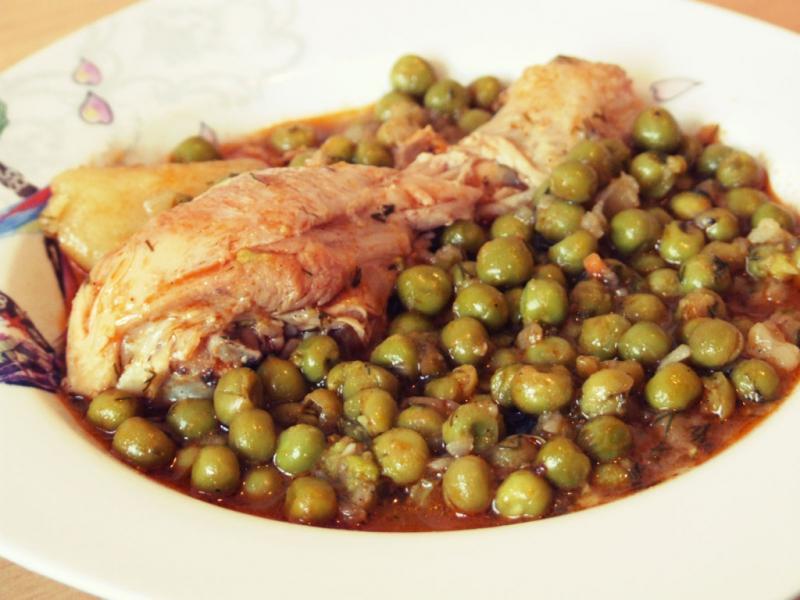 Recette poulet petit pois for Petit pois cuisine