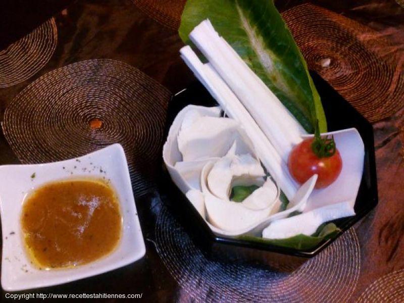 Salade de coeur de cocotier