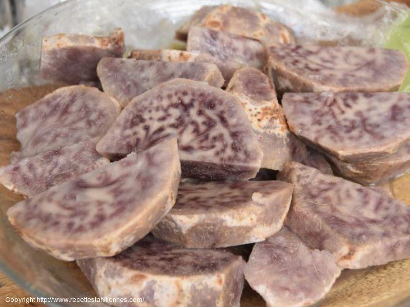 Cuisson du Taro