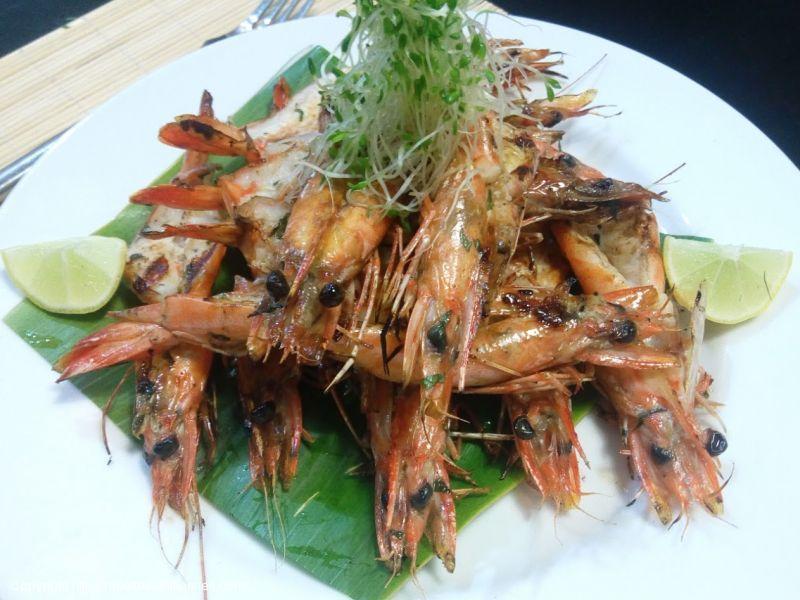 Crevettes de Taravao grillées façon Mojito