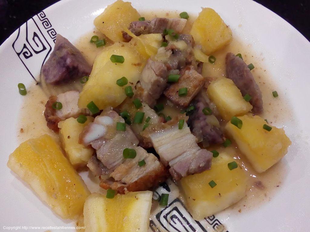 Pua'a roti blanc pommes de terre