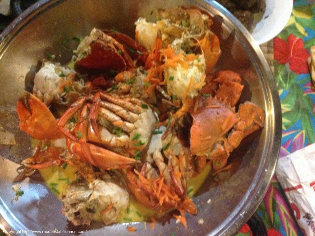 crabes au lait de coco et ses aromates